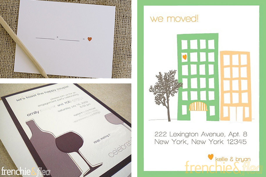 Custom Wedding Invitations by Frenchie & Flea